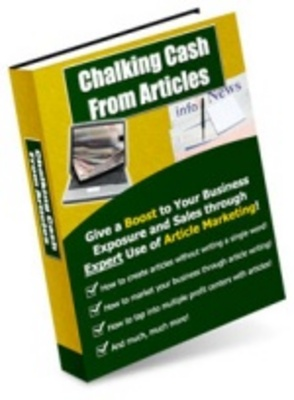 Product picture Chalking Cash from Articles - Increase Your Website Traffic